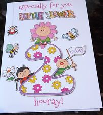 Girl's 2nd Birthday card by Eclipse cards. 22 available - Multi Listing