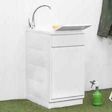 Pratico lavatoio da giardino con porta + vasca e lava panni removibile 45x60 cm