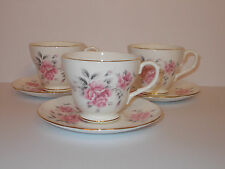 3 x duchess bone china tea tasses et soucoupes motif floral joli