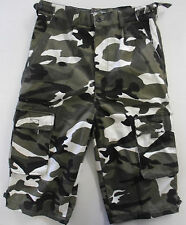 Mens Camo Camoflauge Cargo Combat Outdoor Shorts Bottoms Pants Casual Pockets