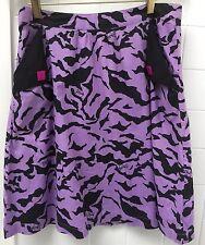 Rusty Purple Black A Line Stretch Cotton Size 10 Skirt EUC