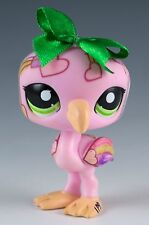 Littlest Pet Shop Pink Flamingo Mini Deco Pets No # With Green Eyes - Markered