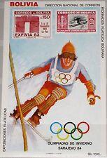 BOLIVIA BOLIVIEN 1984 Block 136 Winter Olympics Sarajevo Skifahrer Skiing MNH