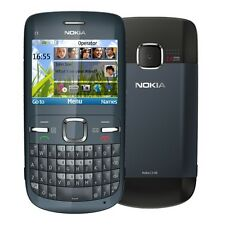 Nokia C3-00 Gray Phone 2MP Camera QWERTY c3 Grey Without Simlock