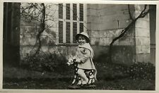 PHOTO ANCIENNE - VINTAGE SNAPSHOT - ENFANT CHEVAL DE BOIS JOUET MODE - CHILD TOY