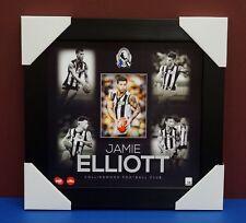 Jamie Elliot Unsigned Collingwood Magpies AFL Official Montage 2015 Print Framed