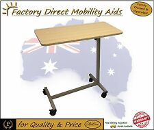 Hospital Overbed Table large wooden top