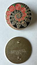 GRATEFUL DEAD 1989 Lapel Pin - DeadHead - SKULL & ROSES SPIRAL lapel pin Relix