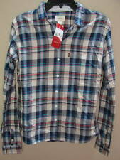 SZ  S  NEW  RED TAB LADIES LEVI'S  PLAID LONG SLEEVE WESTERN SHIRT