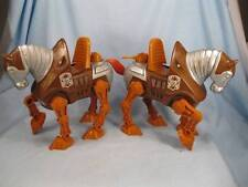 2 Vintage Stridor War Horse Action Figures He Man MOTU Mattel (O) AS IS
