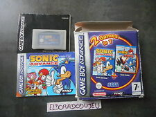 ELDORADODUJEU   SONIC ADVANCE + BATTLE NINTENDO GAME BOY ADVANCE GBA COMPLET* VF