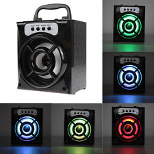 Outdoor LED Bluetooth Speaker Wireless BassStereo USB TF AUX FM Radio MP3 Player