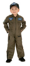 Child Air Force Fighter Pilot Costume Jet Pilot Kids Flight Suit  Size Lg 12-14