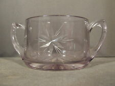 VINTAGE SUN PURPLE ETCHED STAR PATTERN SUGAR BOWL