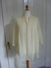New Size 18 Sheer Cream Ivory Chiffon Shirt Flowing Boho Festival Kate Moss VTG