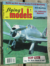 Flying Models Magazine September 1991 R/C Planes Boats Cars Build P-51B Mustang