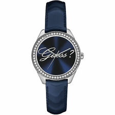Brand NEW LADIES GUESS W0619L1 BLUE SILVER SWAROVSKI CRYSTALS