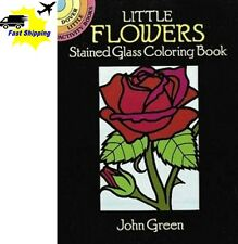 Gift Coloring Book Designs Creative Little Flowers Stained Glass Relax Fun Happy