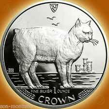 1988 Isle of Man - MANX CAT - 1 Oz .999 Silver Proof Coin FIRST YEAR OF SERIES