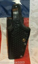Gould & Goodrich B739 Basketweave Duty Holster - Fit Smith Wesson 4506 Left Hand