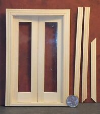 Dollhouse Miniature Double French Door E 1:12 1 inch scale K5 Dollys Gallery