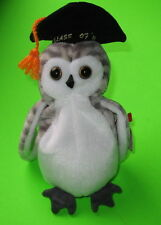 Wiser TY Beanie Baby the Graduation Owl Class of  '99 MWMT Birthday June 4 1999