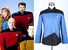 Star Trek TNG The Next Generation Uniform Shirt Costume Blue *Tailored*