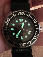 Citizen Promaster Eco Drive Diver's 300M Japanese Men's Watch BN0000-04H
