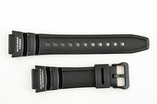 Black Rubber SGW-300H SGW-400H ALTIMETER BAROMETER  Watch Band Strap Casio
