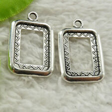 200 pieces tibet silver oblong frame charms 27x18mm #4655 free ship