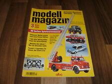 Modell Magazin  3/2006 -- Automobil-Miniaturen /Wiking Käfer feiert Auferstehung