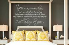 I WILL ALWAYS BE YOURS -  THE NOTEBOOK Quote Vinyl Lettering Words Decal Sticky