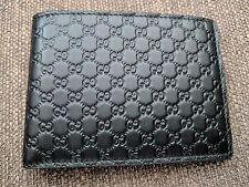 Gucci Men's Black Leather MICRO GG Guccissima Wallet Signature