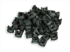 RackGold M6 Black Cage Nuts - 50 Pack RoHS Compliant & USA Made GM6-SNP-B50