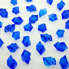 1000 Tiny BLUE Acrylic Scatter Crystal Nuggets Ice Confetti Wedding Vase Filler
