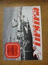29/09/1981 Walsall v Lincoln City  (Folded, Team Changes)