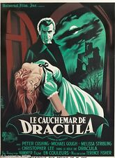 "Dracula Vampire VINTAGE HORROR MOVIE POSTER *FRAMED* CANVAS ART 16""X 12"""