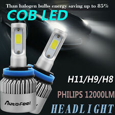 PHILIPS H11 H8 H9 Lamps 120W 12000LM Low Beam LED Headlight Bulbs White 6500K
