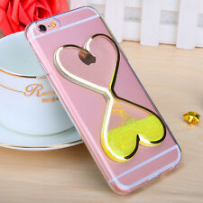 Luxury Liquid Bling Glitter TPU Soft Silicone Cover Case For iPhone 4 5 6 7 Plus