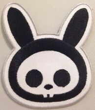 "Skelanimals - Bunny Rabbit Head Iron On Patch Approx 3""x3.5"""