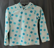 Old Navy, Medium, Girls, Light Blue Polka Dot Pullover Fleece Hoodie