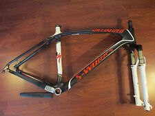 SPECIALIZED S WORKS CARBON STUMPJUMPER 29ER ROCK SHOX REBA BRAIN FRAME SET 21 XL