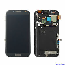 Full LCD Touch Screen Glass Digitizer Frame For Samsung Galaxy Note 2 N7105 i317