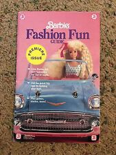 Barbie Fashion Fun Guide Premiere Issue 1990 Mattel RARE