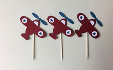 Airplanes cupcake toppers. Set of 24. Great for birthday parties