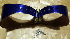 Electric Blue Master Breast Restraint Leather Fetish BDSM Cosplay Bondage L/ XL