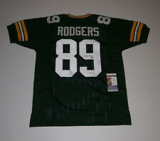 PACKERS Richard Rodgers signed green custom jersey #89 JSA COA AUTO Autographed