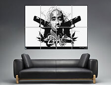 2PAC REVOLVER LOGO Wall Art Poster Grand format A0 Large Print