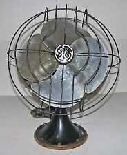 "【RARE】Vintage 30s General Electric 49x491 12"" 3-Sp 4-Blade Fan!GE Form AS1~WORKS"