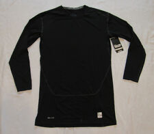 NIKE PRO COMBAT Compression Base Layer Black DRI FIT Long Sleeve Shirt 3XL NEW